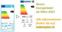 Aktualisierung der Energielabels auf oekotopten.lu